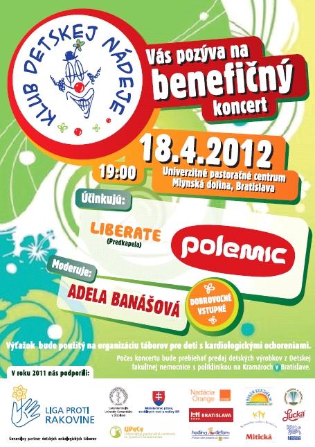 InformácieBenefičný koncert Klubu Detskej Nádeje