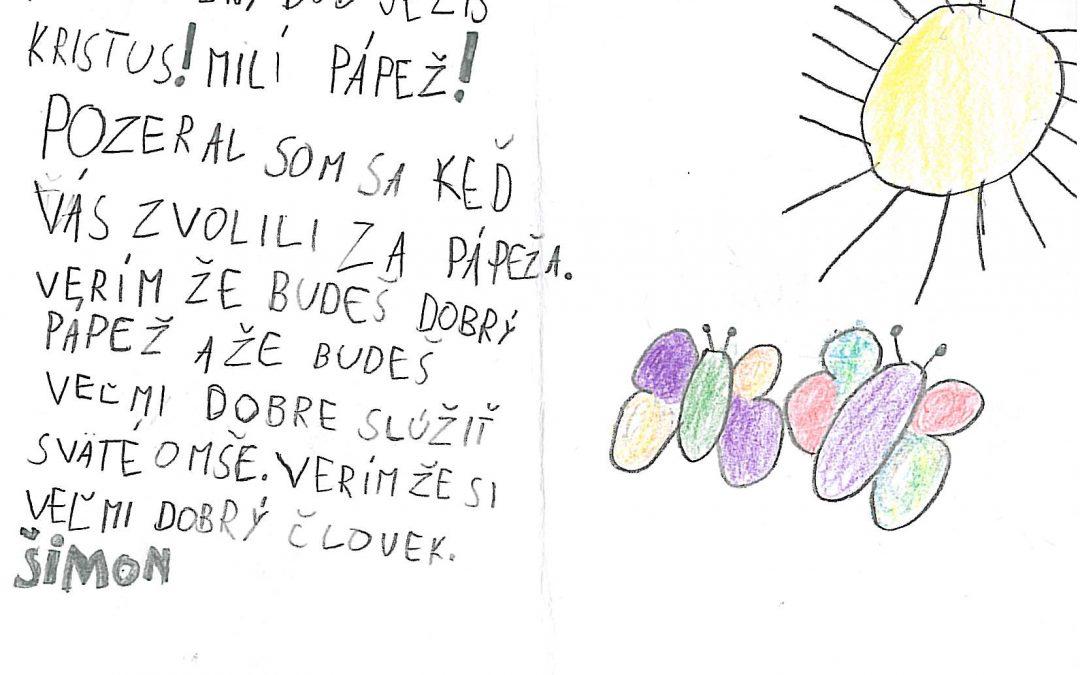InformáciePozdravy od slovenských detí odovzdajú priamo pápežovi