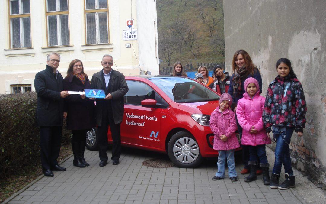 InformácieDeti z detského domova v Dobšinej vyhrali Volkswagen up!