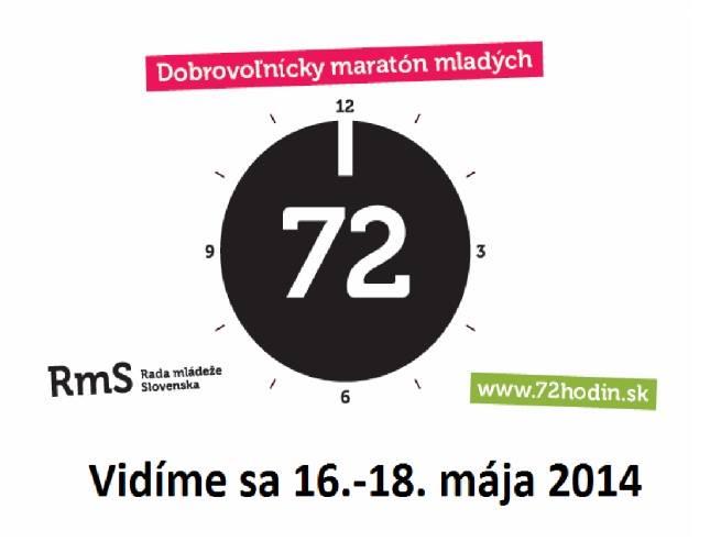 Informácie72 hodín dobrovoľníctva je tu!