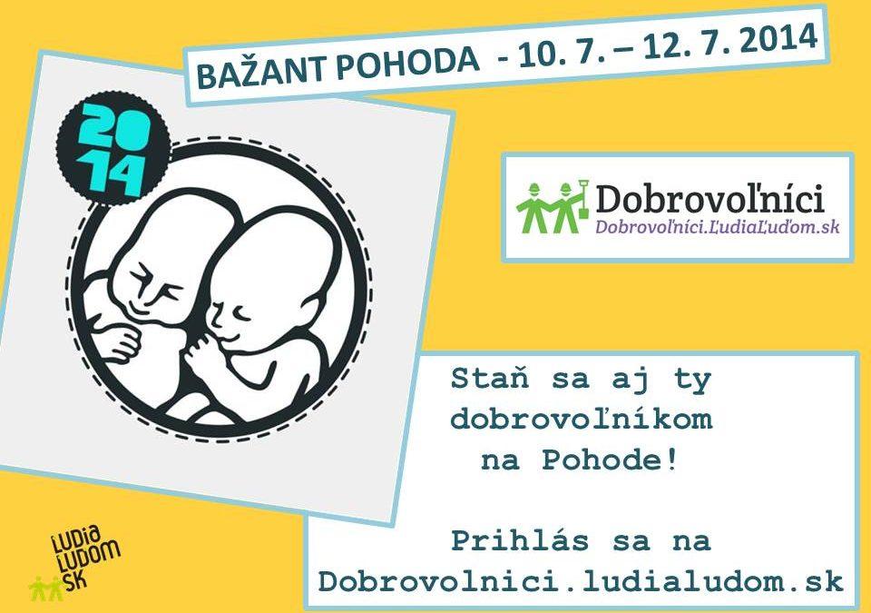 InformácieLudiaLudom.sk a Pohoda opäť spojili sily