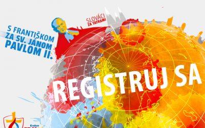 Začala oficiálna slovenská registrácia na Svetové dni mládeže do Krakova