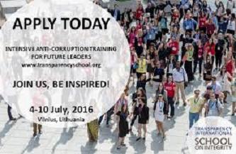 PonukyTransparency International pozýva na letnú školu