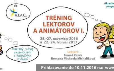 Tréning lektorov a animátorov I