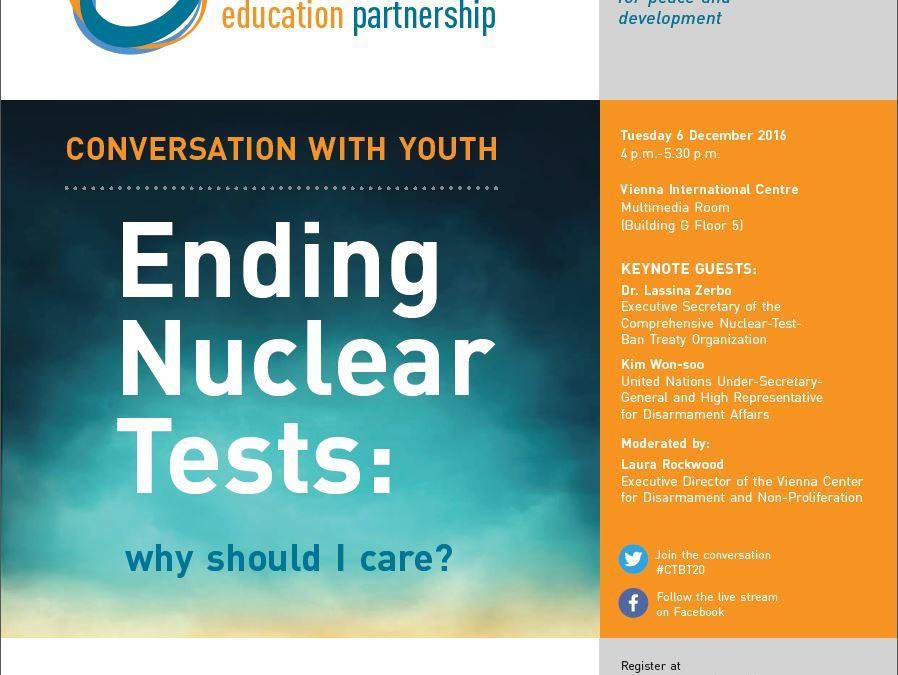 PonukyDiskusia na tému ukončenia jadrových testov