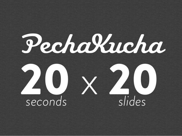 PonukyFundraiserka/er v PechaKucha