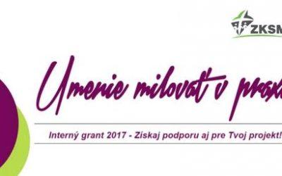 ZKSM aj tento rok ponúka možnosť zapojiť sa do interného grantu