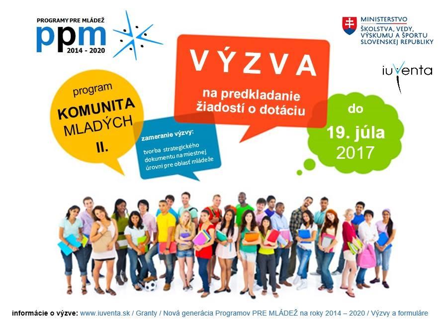 PonukyVýzva na predkladanie žiadostí o dotáciu v rámci Programov pre mládež