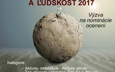 Výzva na predloženie návrhov na ocenenie za aktívne občianstvo aľudskosť 2017 vŽilinskom kraji