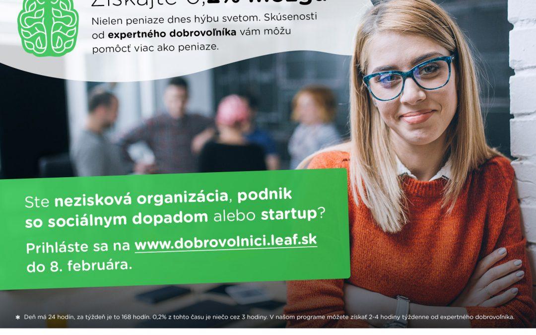 """PonukyPrihlasovanie do – """"Programu expertného dobrovoľníctva"""" pre organizácie je otvorené"""