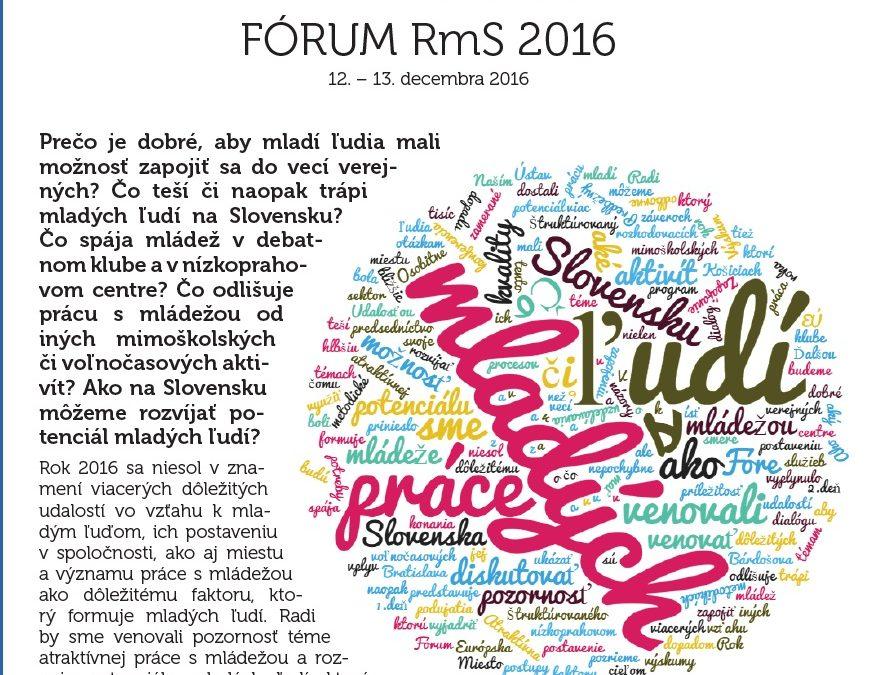 ProjektyFÓRUM RmS 2016