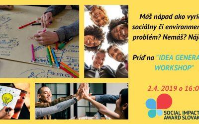Workshop, ktorý pomáha realizovať nápady na zlepšenie sociálnych a environmentálnych problémov