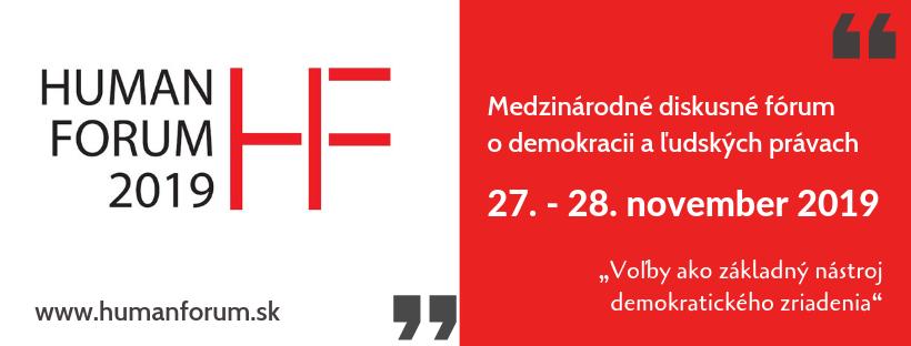 """PonukyMedzinárodná konferencia o ľudských právach – """"HUMAN FORUM"""""""