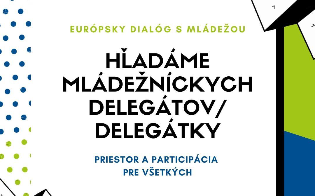 Hľadáme mládežníckych delegátov/ delegátky VIII. cyklu EDM
